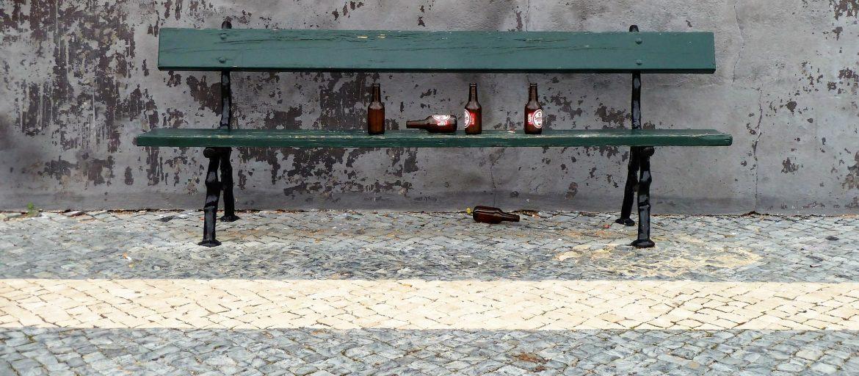 ławka butelki